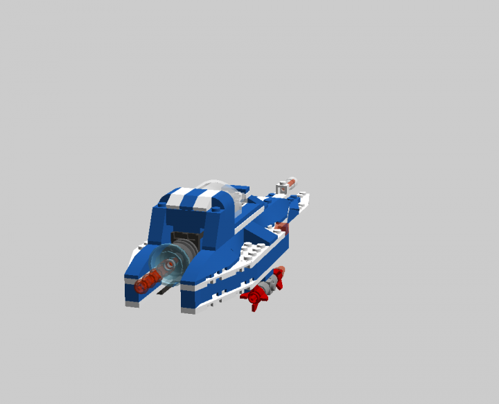 LEGO MOC - In a galaxy far, far away... - Ship 'Blue werewolf'