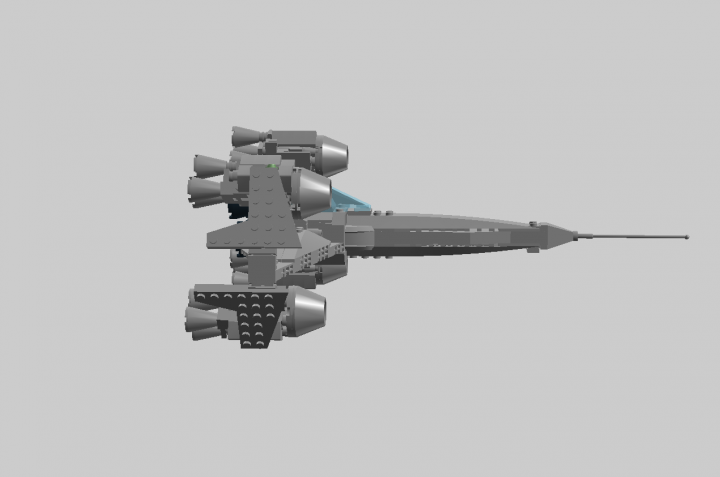 LEGO MOC - In a galaxy far, far away... - 'Hooper' space ship