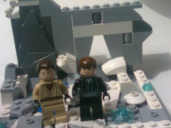 LEGO MOC - Heroes and villians - League of Assassins Lair from the 'Batman:Begins': вид сзади