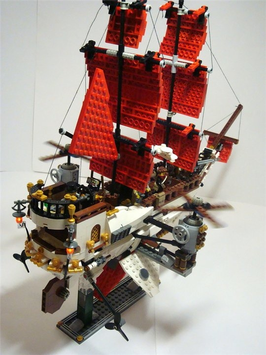 LEGO MOC - Steampunk Machine - Steampunk styled 'Scarlet Sails': Огни.