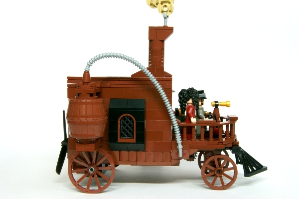 LEGO MOC - Steampunk Machine - Self-propelled carriage