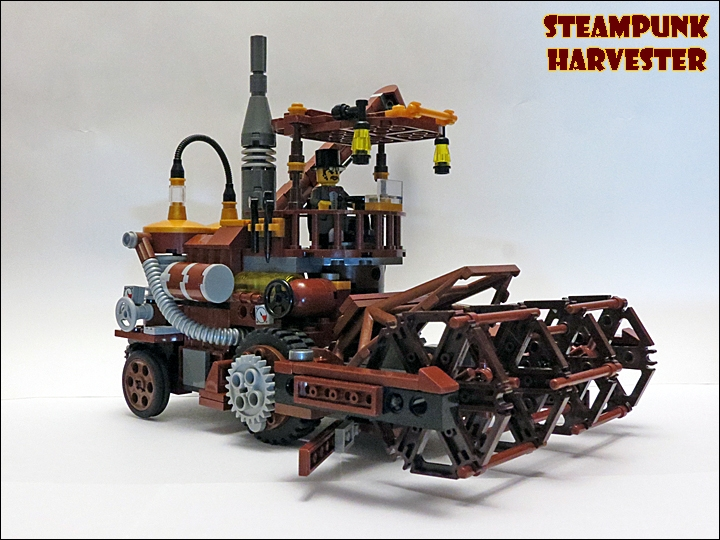 LEGO MOC - Steampunk Machine - Steampunk Harvester: Знакомьтесь - SteamPunk Harvester!