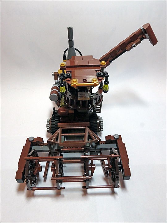 LEGO MOC - Steampunk Machine - Steampunk Harvester: Компактен и могуч!