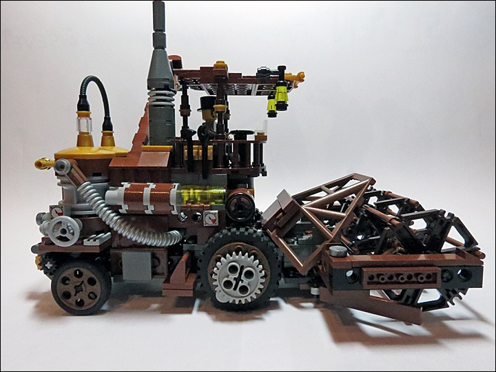 LEGO MOC - Steampunk Machine - Steampunk Harvester: Урожай будет наш! :)