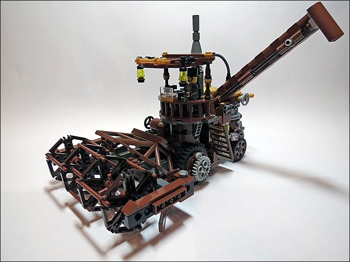 LEGO MOC - Steampunk Machine - Steampunk Harvester: Задача у него одна - убирать урожай.