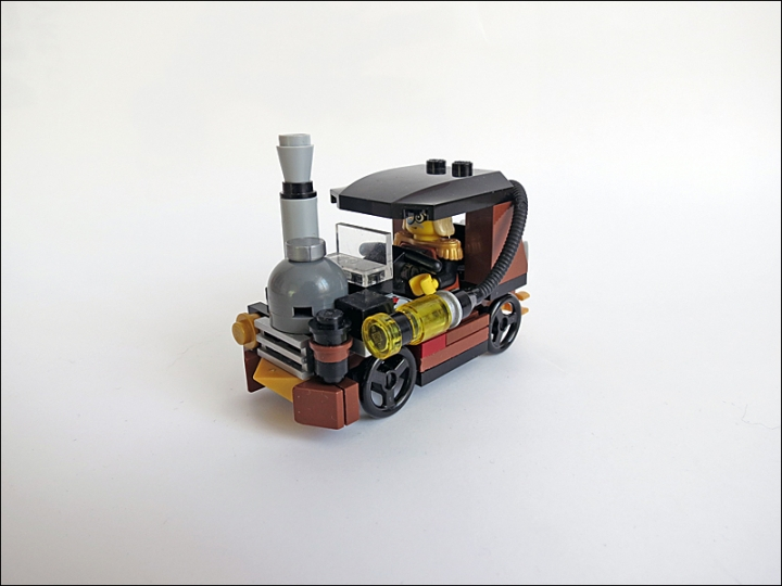 LEGO MOC - Steampunk Machine - Car 3177 SteamPunk Edition :): Compact, economic, cheap steamcar.