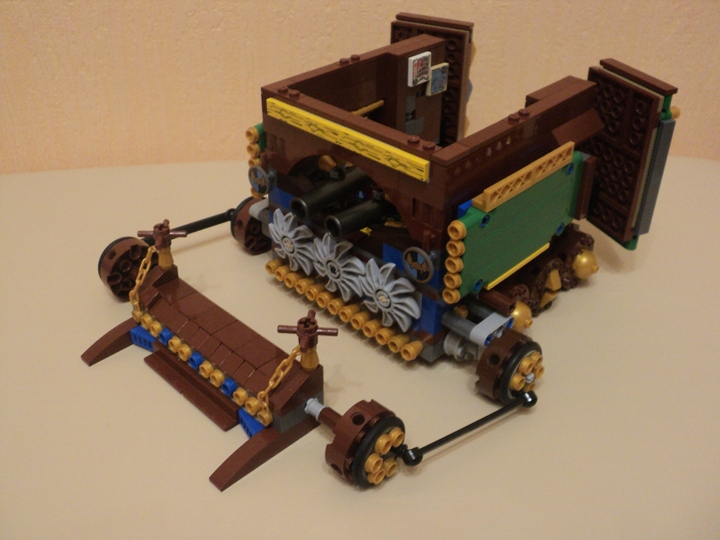 LEGO MOC - Steampunk Machine - Вездеход-сборщик алмазов: нижняя часть - рулевая