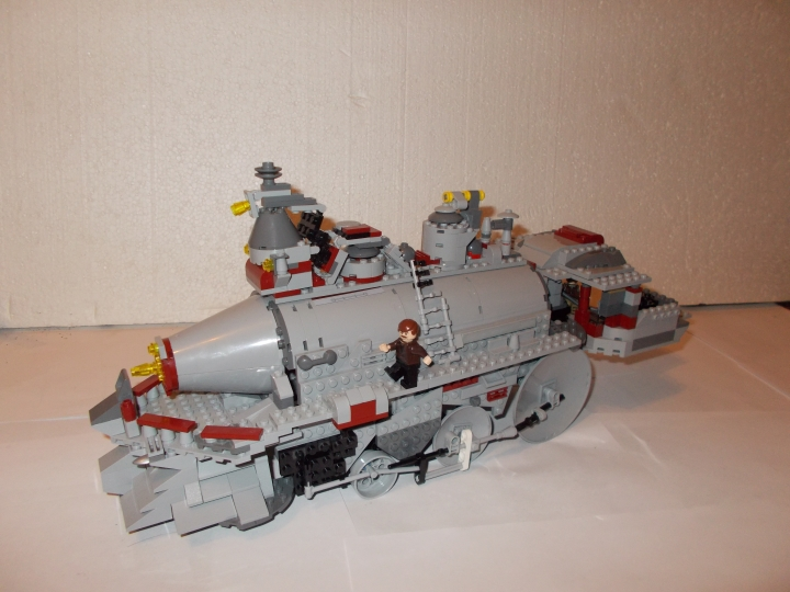 LEGO MOC - Steampunk Machine - 'Red Revenge' Steam Locomotive