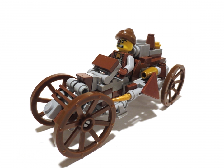 LEGO MOC - Steampunk Machine - Steam Ripper: А вот и наш водитель.