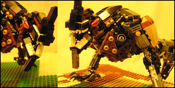 LEGO MOC - Steampunk Machine - Warning! Hunters!: ХРРРРРРР!!!