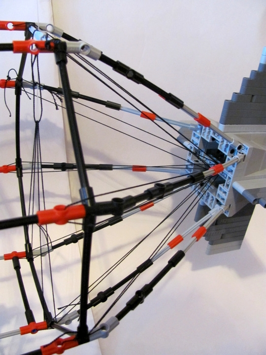 LEGO MOC - Mini-contest 'Zeppelin Battle' - Postman (Dirigible): Tail ropes: