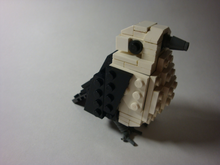 LEGO MOC - 16x16: Animals - Bird, just a bird: Птица отдельно.