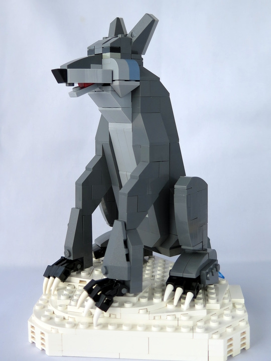 Как из лего сделать волка из 786