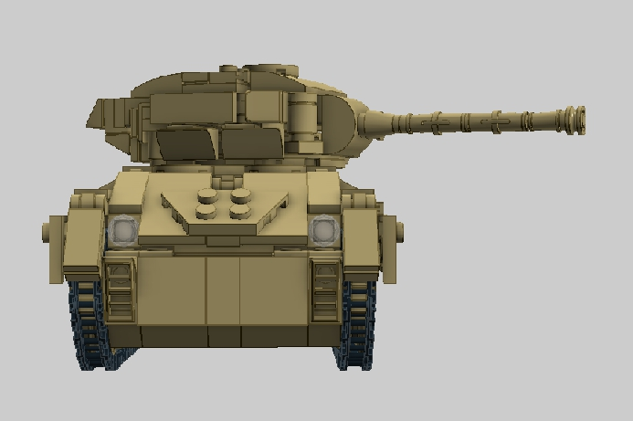 LEGO MOC - LDD-contest '20th-century military equipment‎' - Light Tank M24 'Chaffee': 'Открыть огонь по цели!'