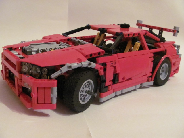 LEGO MOC - Technic-contest 'Car' - Nissan Skyline GT-R R34.: Вспомнил про спойлер.