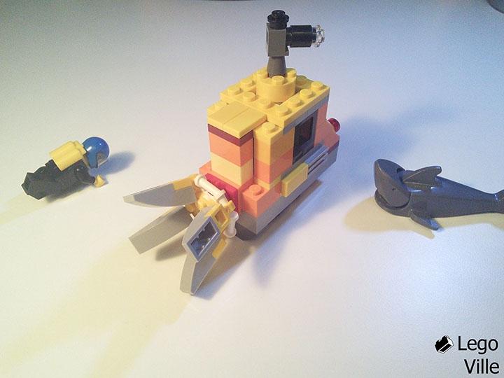 lego желтая подводная лодка
