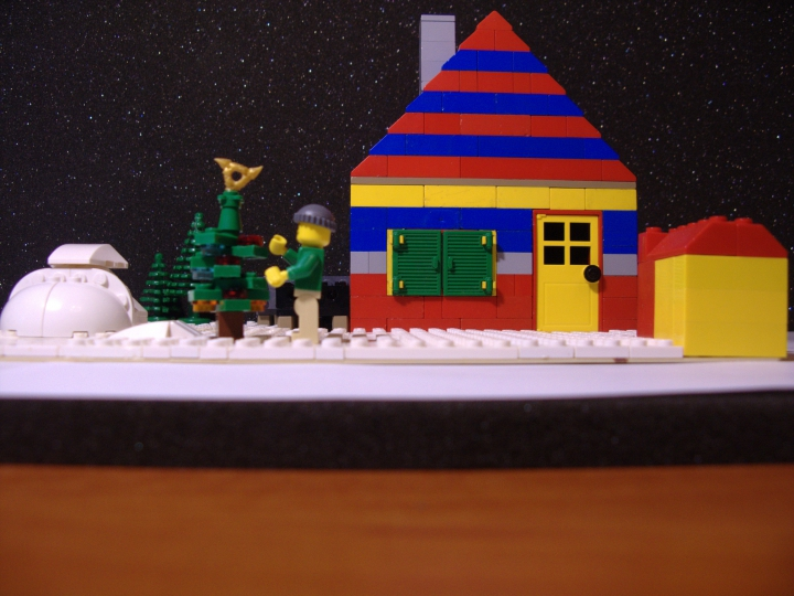 LEGO MOC - New Year's Brick 2017 - Дом под Рождество.