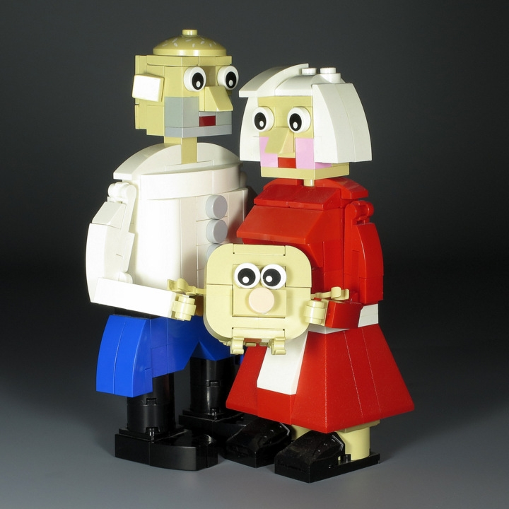 LEGO MOC - 16x16: Chibi - Babushka, Dedushka & Kolobok: </i>'Let's live happily after!'<br><i><br />