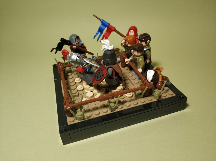 LEGO MOC - 16x16: Duel - The duel of two masters: (1)