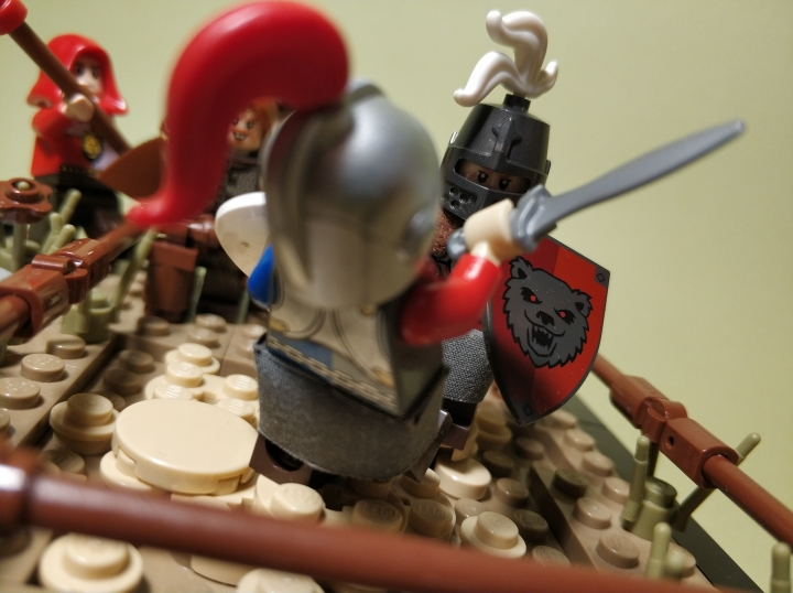 LEGO MOC - 16x16: Duel - The duel of two masters: (4)