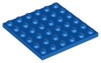 LEGO® Black Plate 6 x 6 Design ID 3958