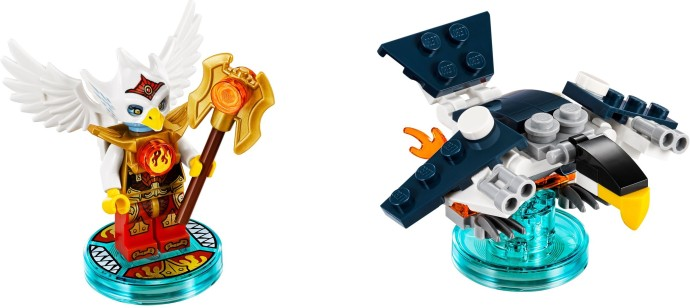 Minifig LEGEND OF CHIMA Twin Bladed LEGO Pearl Gold Weapon Axe Head