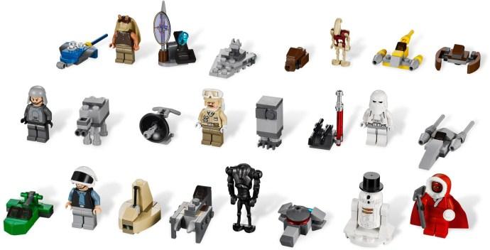 bricker - construit par lego 9509 calendrier de l'avent lego star